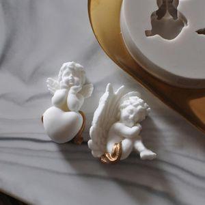 MOULE  3d Ange Silicone Moules Fée Bébé Savon Moule Gâtea