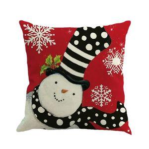 HOUSSE DE COUSSIN Impression de Noël teinture d'oreiller décoration