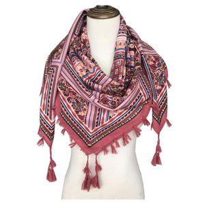 ECHARPE - FOULARD Foulard femme carré écharpe soie 105x105cm GOGOU X
