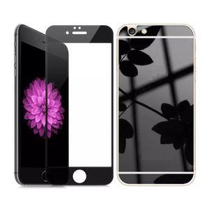 coque iphone 4 4s miroir noir effet vitre trempe c
