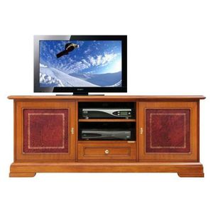 MEUBLE TV Meuble Tv détails en cuir 150 cm largeur