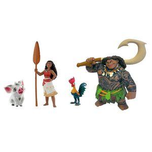 FIGURINE - PERSONNAGE BULLY - Coffret 4 figurines Vaiana Disney