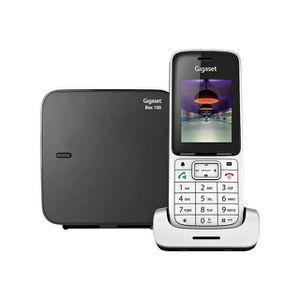 Téléphone fixe Gigaset SL450 Téléphone sans fil Argent