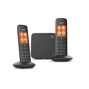 Téléphone fixe Téléphone fixe sans fil Gigaset C570 Duo Noir