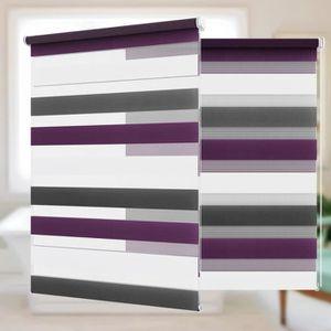 STORE DE FENÊTRE Store Enrouleur Jour Nuit 45x150cm Blanc-Anthracit
