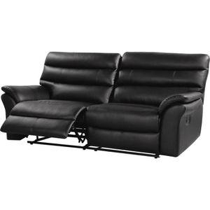 CANAPÉ - SOFA - DIVAN Canapé relax cuir reconstitué-PVC
