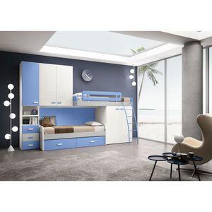 LIT MEZZANINE Chambre à coucher complète pour enfant Eugenio