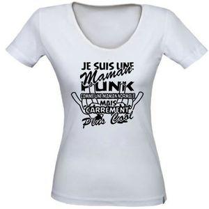 T-SHIRT Tee-shirt femme MAMAN PUNK - Idée cadeau annive...