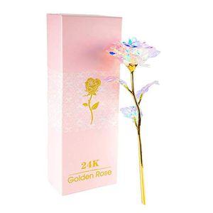 la F/ête des M/ères WolinTek 24K Rose Plaqu/é,Rose Eternelle Rose Plaqu/é Or 24 K Rose Romantique Fleur Golden Rose avec Bo/îte pour la Saint-Valentin Anniversaire Cadeau Mariage Anniversaire