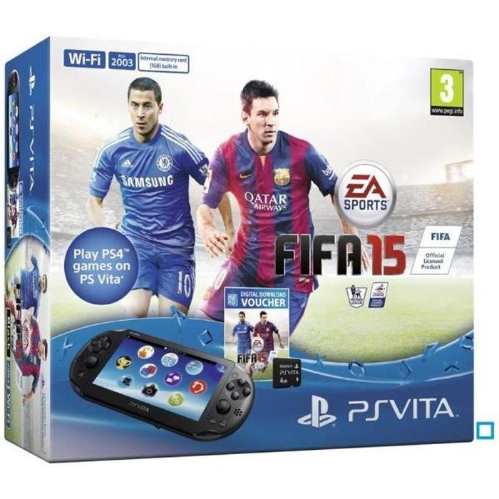 Console PS Vita 2000+Coupon Jeu FIFA 15+CM 4 Go