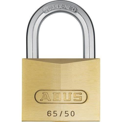 Abus - 65/50 50mm Cadenas en laiton Masterkeyed Mk65501 - ABU6550MK01