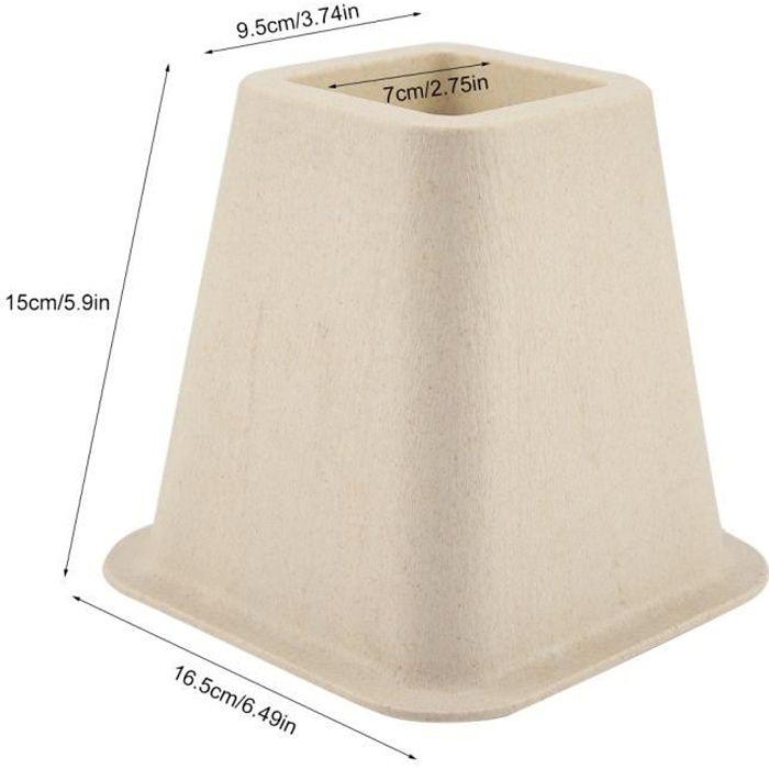 4pcs Rehausseur Pieds de lit Réhausseur de meuble Lit / Table Set Rehausseur meuble ELEVATEUR en porcelaine artificielle -DBA