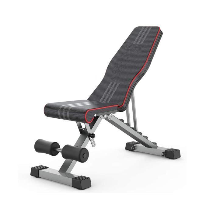 Banc de musculation banc réglable pliable entraînement maison