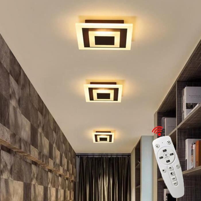 Plafonnier Moderne Dimmable LED Lustre suspension luminaire pour couloir,entrée,allée,porche - Marron
