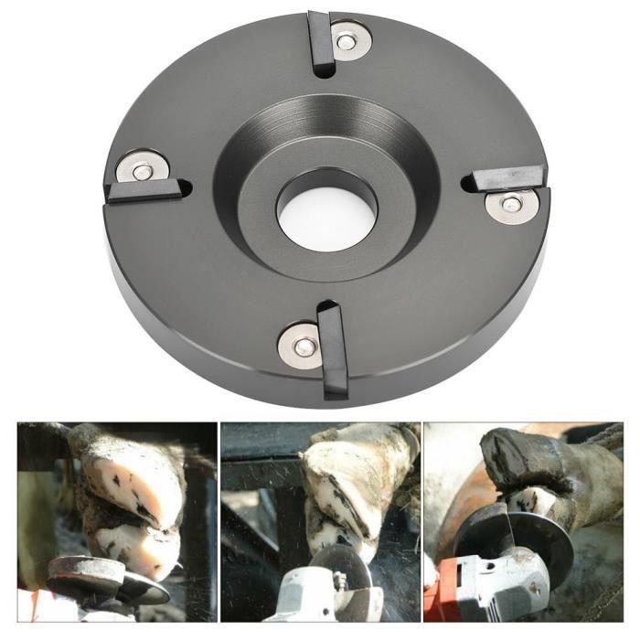 RIN Métal vache bovins sabot coupe coupe bétail moutons pied tondeuse disque plaque avec 4 lames plus nettes(HL-Q7F-II 4 Cutter )