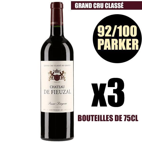 X3 Château Fieuzal 2009 75 cl AOC Pessac-Léognan Rouge Grand Cru Classé Vin Rouge