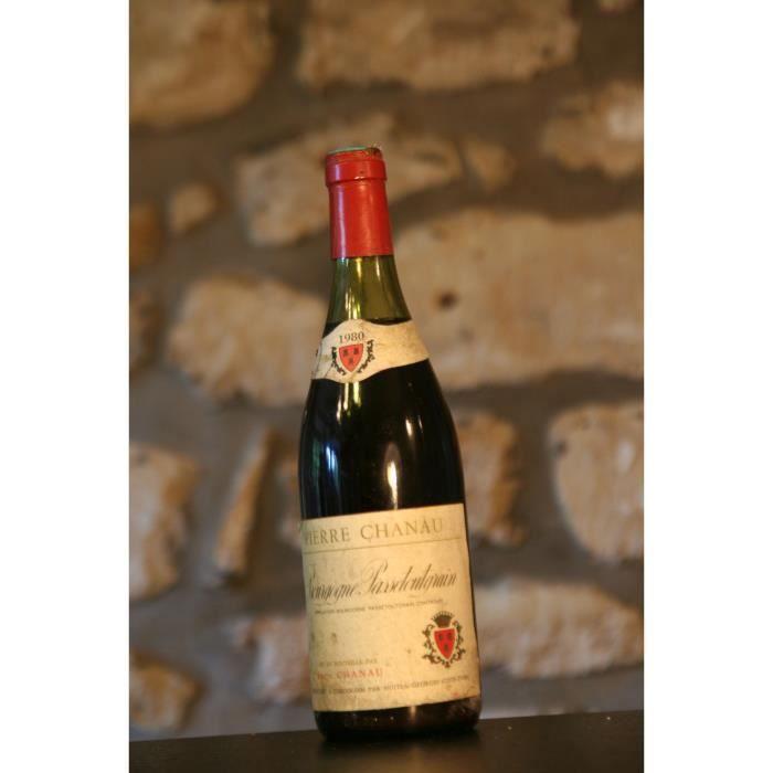 Vin rouge, Passetoutgrain, Domaine Pierre Chanau 1980 Rouge