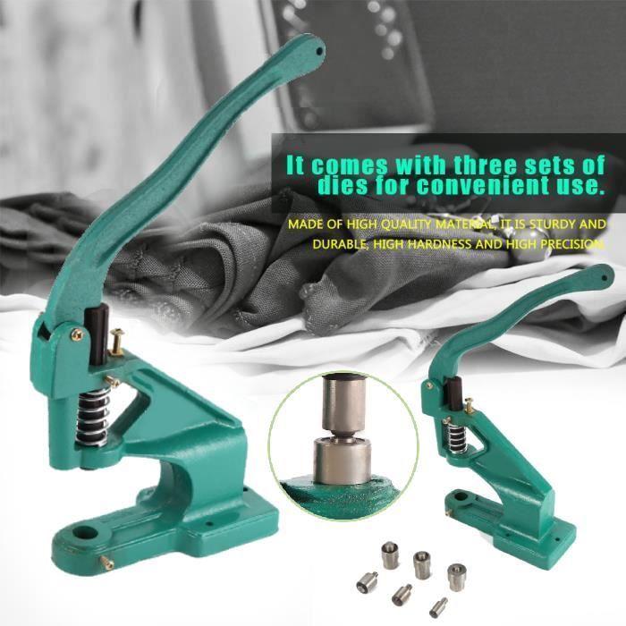 Industriel Machine Pince à Oeillets avec 3 Matrices kit pour DIY Décorati - OLL