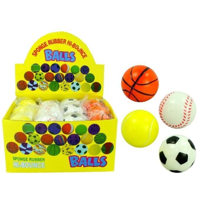 Balle rebondissante soft -Sport- Ø 6cm modèles assortis - Qualité COOLMINIPRIX®