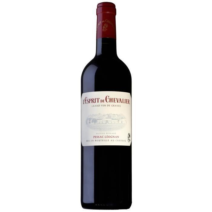 Esprit de Chevalier 2016 - Pessac Leognan rouge AOC - vin rouge de Bordeaux - 1 bouteille.