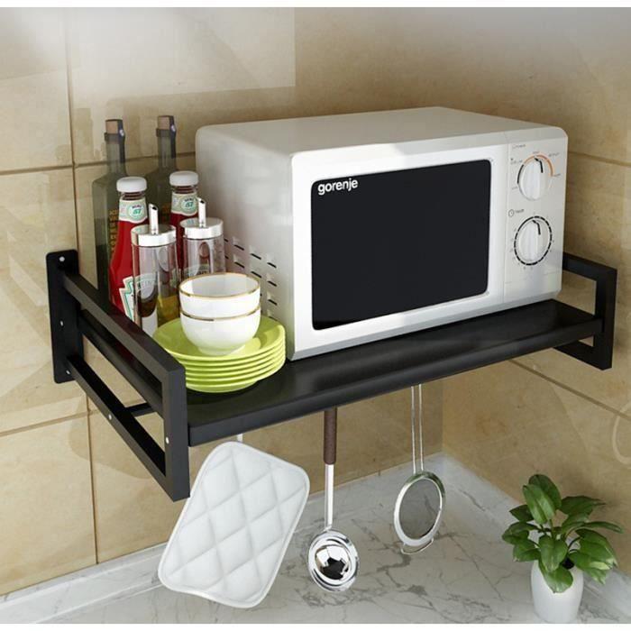 IN Support de four à micro-ondes mural pour étagère de cuisine Support de stockage 53*38 CM