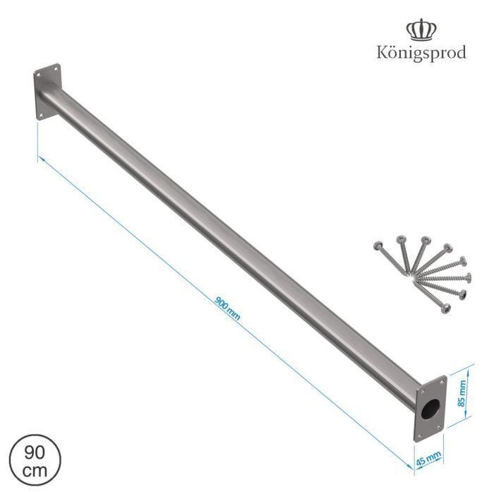 Barre de traction barre fixe, KÖNIGSPROD, acier inoxydable, 90 cm