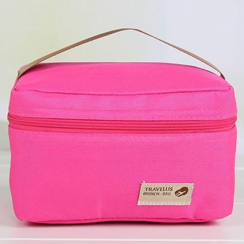LUNCH BOX - BOITE A REPAS,Sac isotherme étanche pratique petit Portable sacs de glace 4 couleur Thermos boîte à - Type Rouge