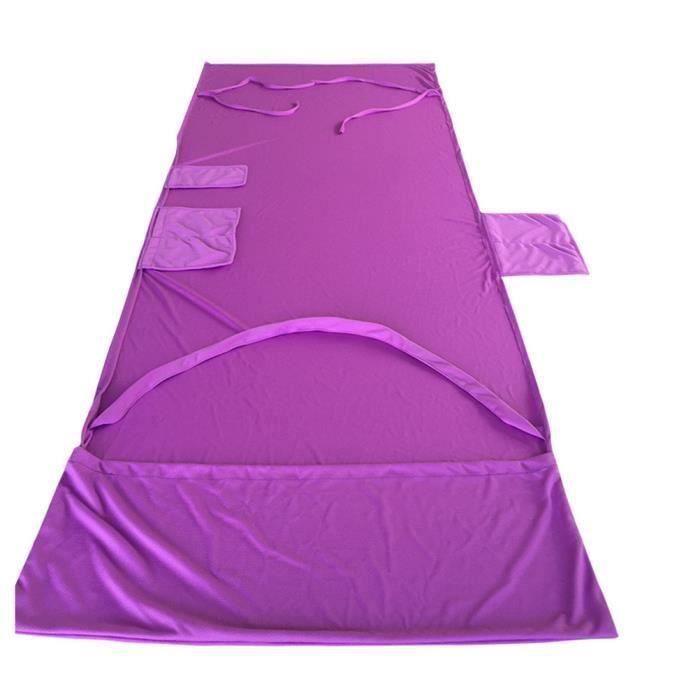 Chaise de plage en Chaise Chaise longue serviette pour la piscine Sun Lounger Hôtel Vacances avec poches latérales (Violet) @SHE