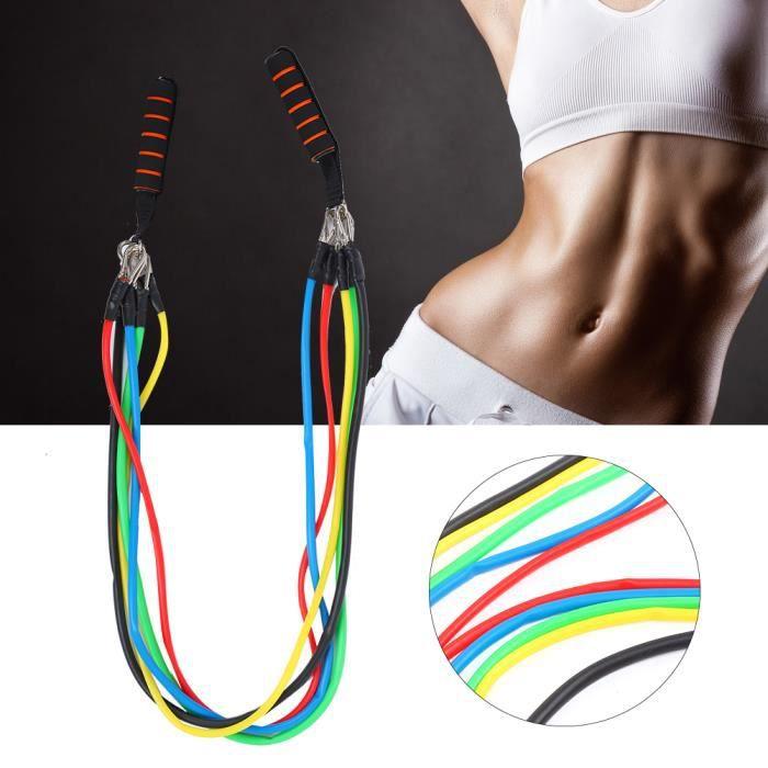 Bandes de Résistance Set Elastiques, Kit de 11 Accessoires Musculation-Bandes de Fitness Exercice Elastiques Yoga -RAI