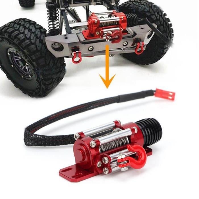 Treuil rouge, treuil RC écologique, alliage de haute qualité pour voiture RC modèle RC voiture d'escalade sur chenilles RC jouet