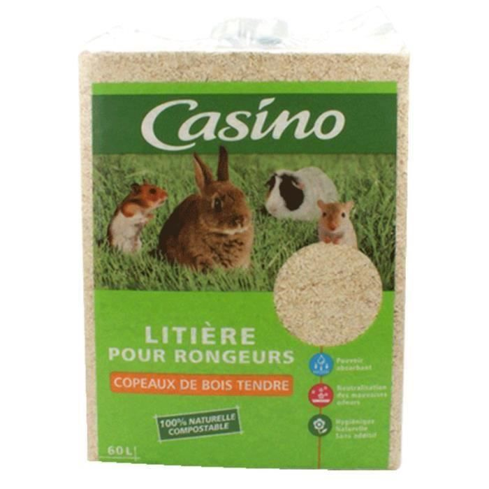CASINO Litière copeaux - Pour rongeur - (x1) (Lot de 3)