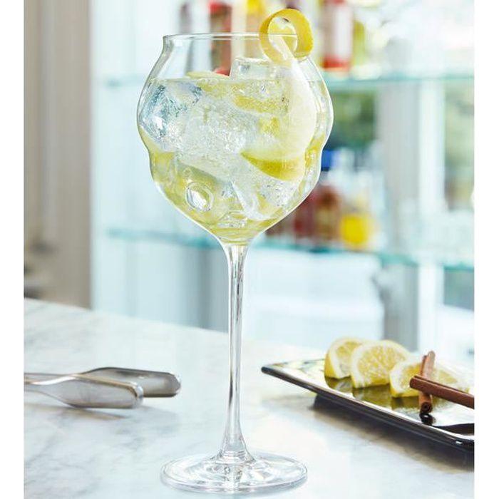6 verres à vin 60cl Macaron - Chef&Sommelier - Cristallin design original ultra transparent