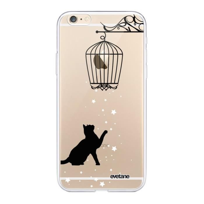 Coque iPhone 6 iPhone 6S 360 intégrale transparente Chat Ecriture Tendance Design Evetane