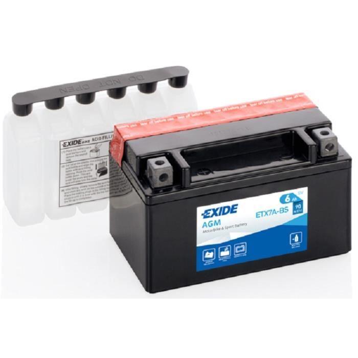 ETX7A-BS YTX7ABS YTX7A-BS, EXIDE Batterie de démarrage EXIDE AGM