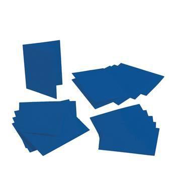 Lot de 5 Cartes double rectangulaires et enveloppes, Format A6, 10,5 cm x 15 cm - Bleu foncé