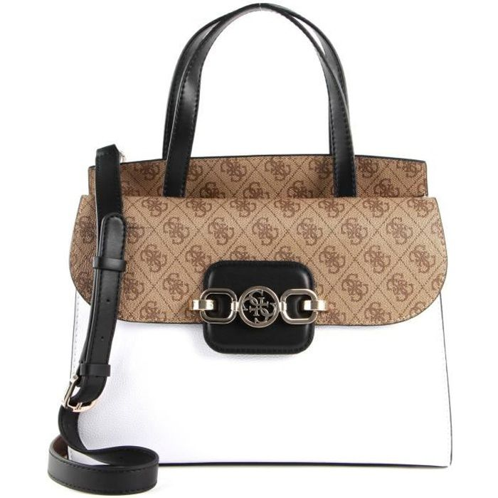 GUESS Hensely Satchel Latte Multi [115598]