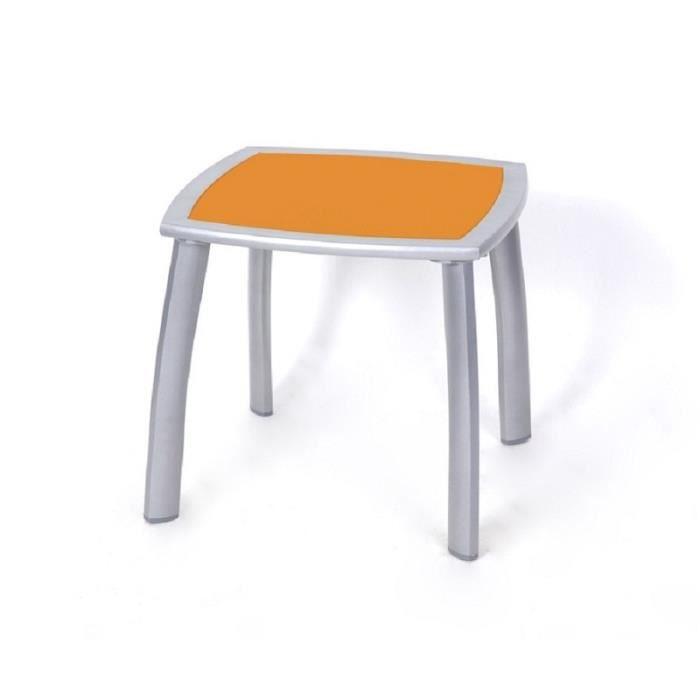 Table d'appoint extérieur métal Cuzco orange