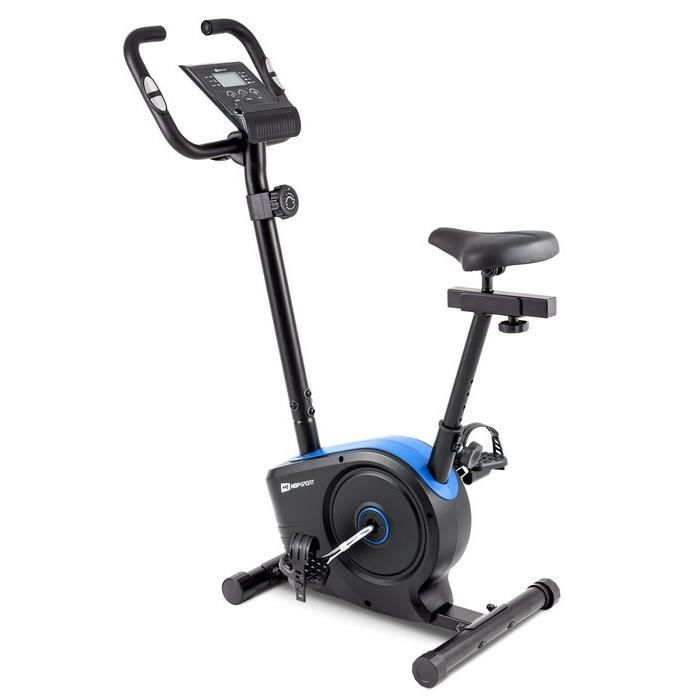 HOP-SPORT Vélo d'appartement HS-2050H Sonic – Roue d'inertie de 7kg- Max 120 KG - Vélo dimensions compactes - Réglable (Bleu)