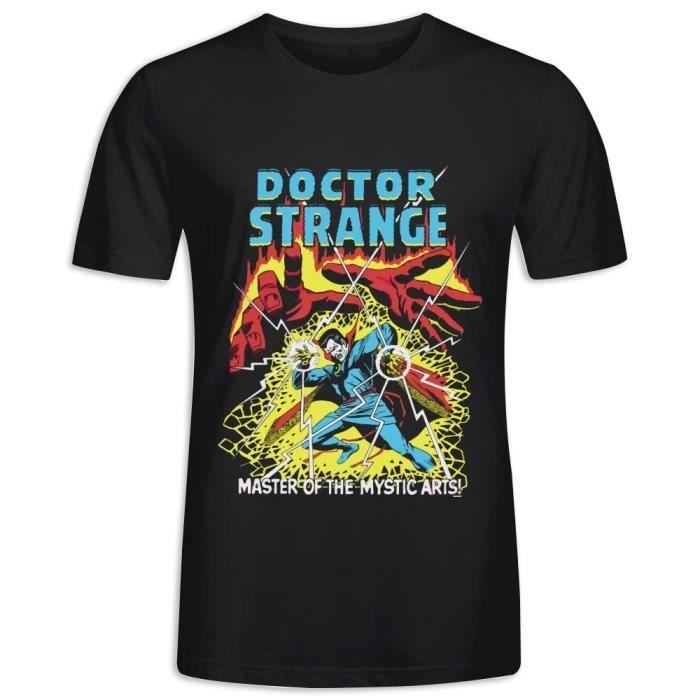 Tee Shirts avec imprimé en Doctor Strange Marvel Comics Manche Courte Tee Homme