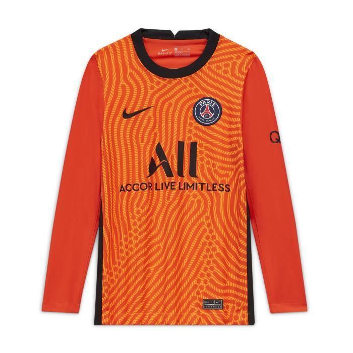 Maillot manches longues junior gardien PSG 2020/21 - orange total/orange intense/noir - 12/13 ans