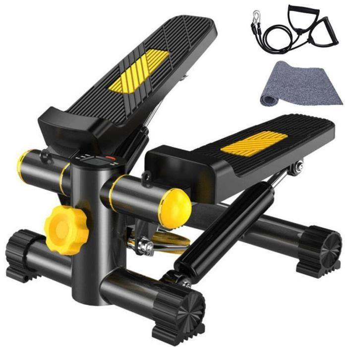 Mini Stepper Machine Exercise Jambe Fitness Entraînement Musculaire avec Bandes de Résistance et Affichage VINTEKY®