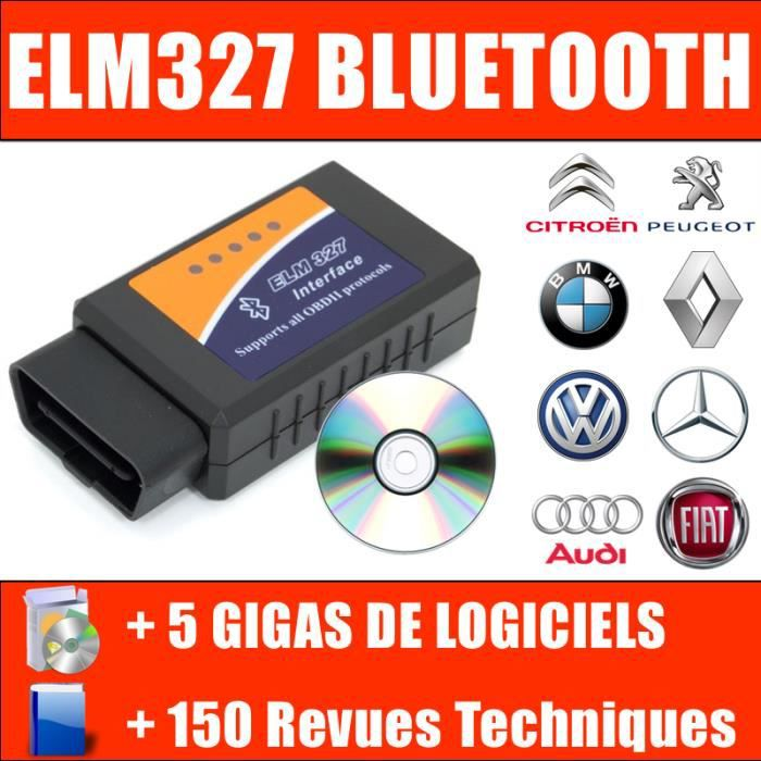 Valise Diagnostique Pro Multimarque Obd Obd2 Diagnostic OBDLINK LX BLUETOOTH