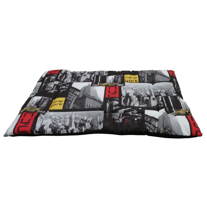 tapis plat pour chien 100x70x3 motif new york achat vente corbeille coussin tapis plat. Black Bedroom Furniture Sets. Home Design Ideas