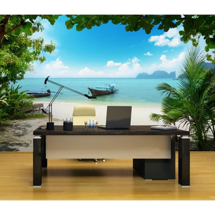 photo papier peint wall mural grand format 366x254 cm plage et oc an nature le plage. Black Bedroom Furniture Sets. Home Design Ideas