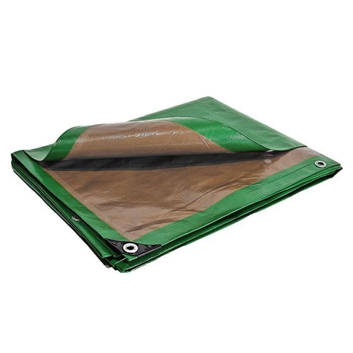 Bache Toiture Speciale Couvreur 250 G M 6 X 10 M Etancheite Toiture Baches Etanches Bicolore Verte Et Marron Cdiscount Bricolage