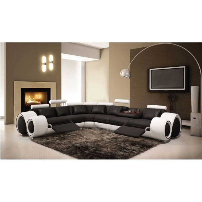 canap design d 39 angle en cuir fresno assise noi achat. Black Bedroom Furniture Sets. Home Design Ideas