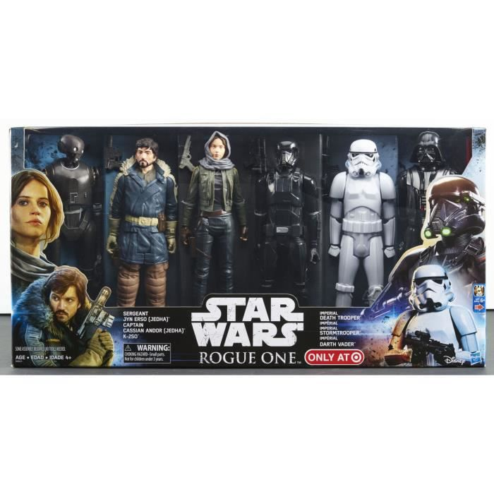 coffret 6 figurines 30 cm star wars rogue one achat vente figurine personnage cdiscount. Black Bedroom Furniture Sets. Home Design Ideas