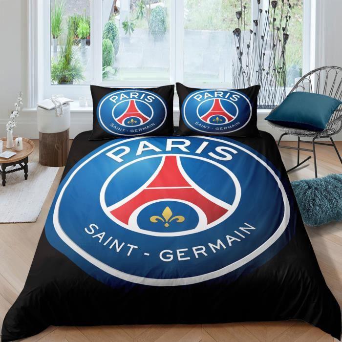 CTI Housse de Couette 140/_x/_200/_cm Logo Oversize Paris Saint Germain taie doreiller 100/% Coton