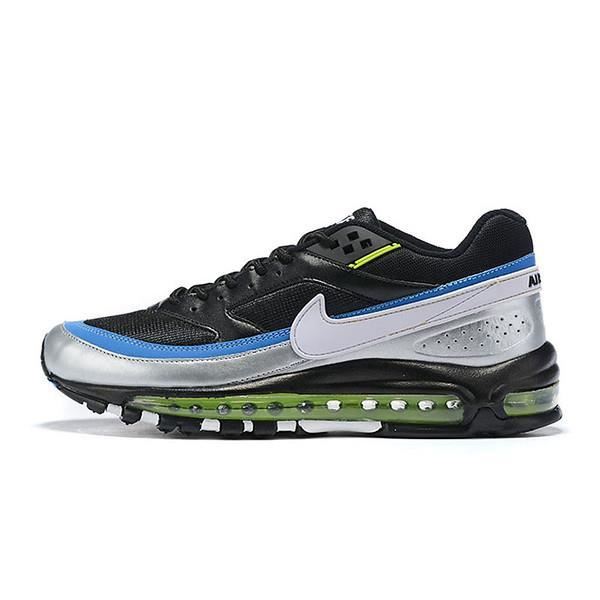 Baskets Nike Air Max 97 BW Chaussures de Course Noir Argent Bleu ...