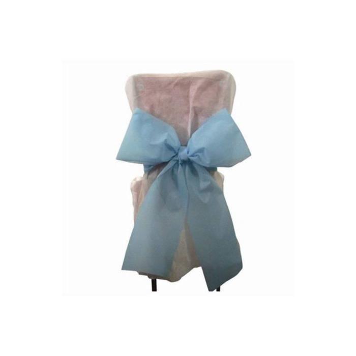 HOUSSE DE CHAISE 6x Noeud Pour Chaise - bleu